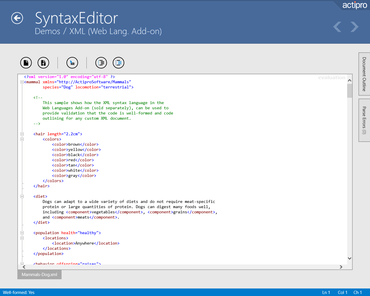 Actipro SyntaxEditor for UWP 2020.1