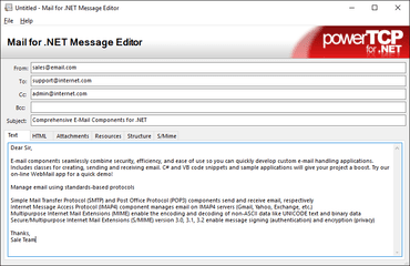 PowerTCP Mail for .NET 4.3.11.0