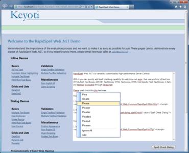 RapidSpell Web ASP.NET v6.1