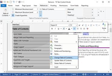 TX Text Control .NET for Windows Forms Enterprise X19