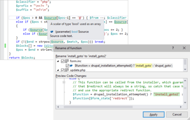 PHP Tools for Visual Studio v1.50.12628