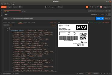 Neodynamic ThermalLabel Web API for Docker 1.0.2