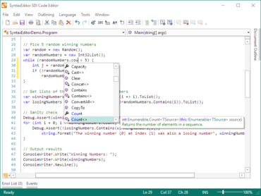 Actipro SyntaxEditor for WPF 21.1.0