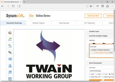 Dynamic Web TWAIN 17.0