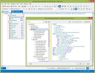 dbForge Query Builder for SQL Server V4.0.14