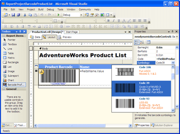 Barcode Professional RS adds symbologies