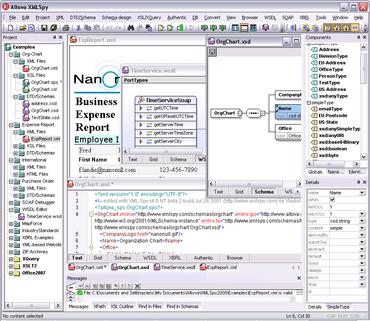 Altova XMLSpy 2011 adds dynamic charting