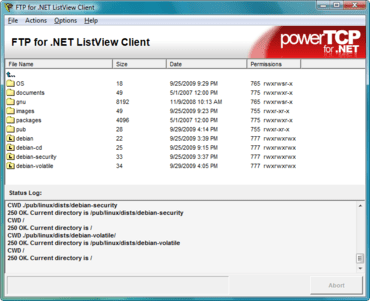 PowerTCP FTP integrates with VS2010