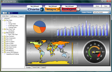 TeeChart Pro adds multi task dashboards