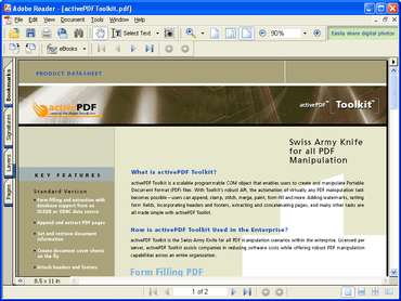 activePDF Toolkit 2011 with new .NET API