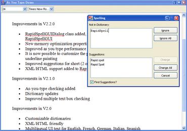 RapidSpell Web Java updates browser support