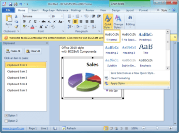 BCGControlBar adds Toolbar Editor.