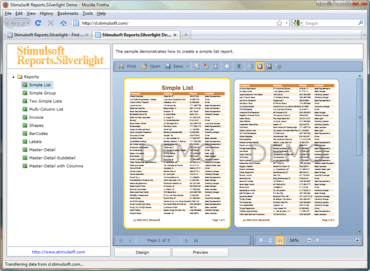 Stimulsoft Reports.Silverlight 2011.2 released