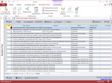 Total Access Emailer for Access 2013 released