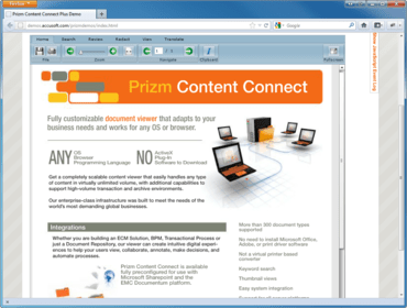 Prizm Content Connect improves HTML5 Viewer
