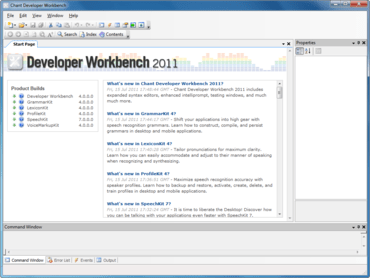 Chant Developer Workbench supports Silverlight 5