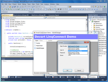LinqConnect adds Visual Studio 2012 support