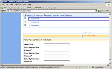 Virto Password Reset Web Part released