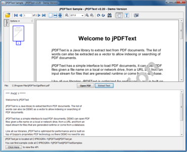 Extract text from PDF documents