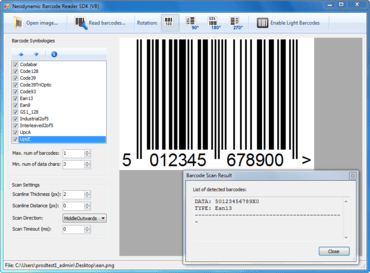 Barcode Reader SDK for .NET launched
