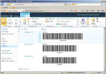 Aspose.BarCode for SharePoint released