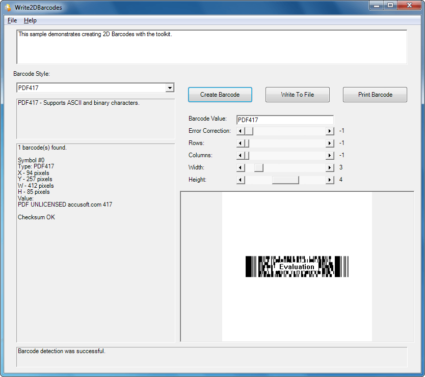 Screenshot of Barcode Xpress Professional ActiveX