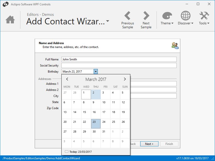Captura de tela do Actipro Editors for WPF