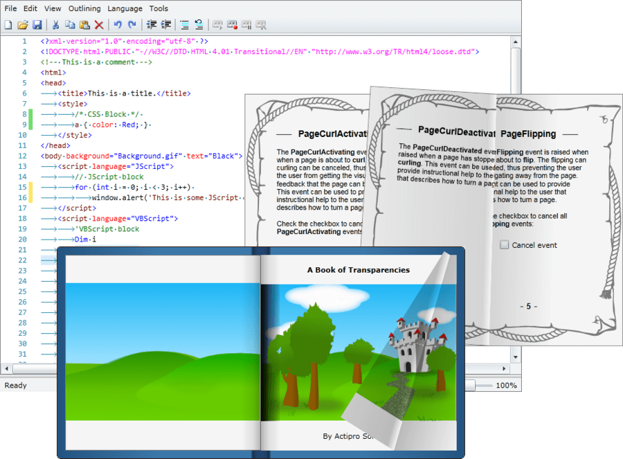 Screenshot of Actipro Silverlight Studio