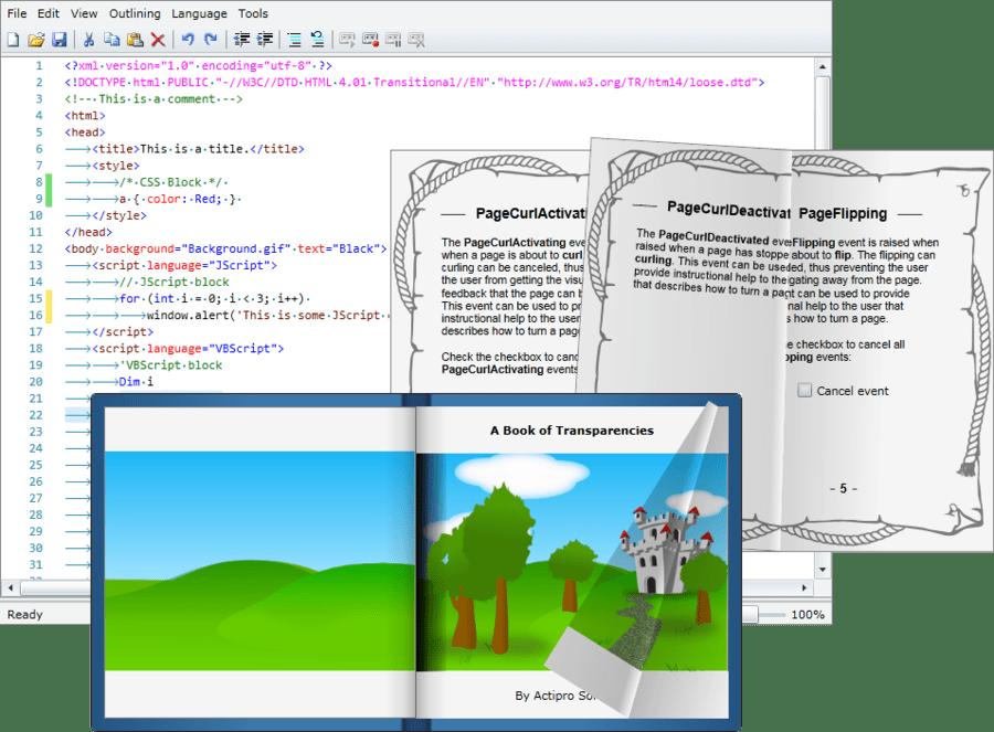 Captura de tela do Actipro Silverlight Studio