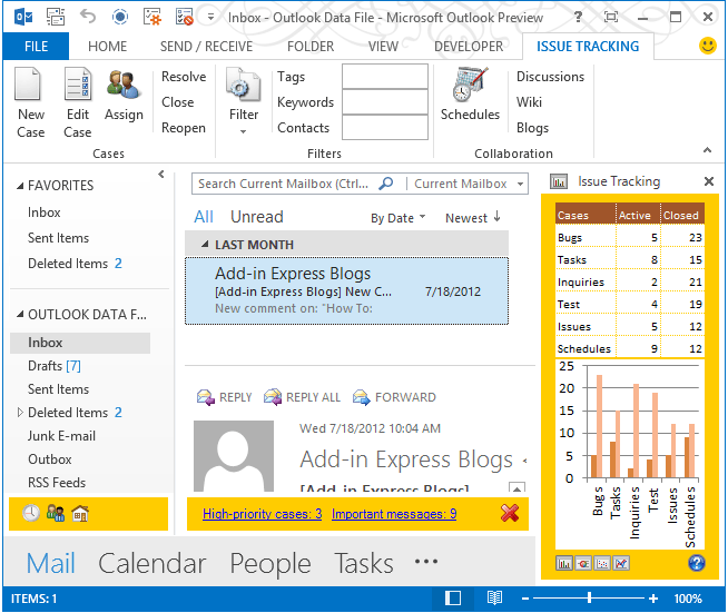 Screenshot of Add-in Express for Microsoft Office and Delphi VCL