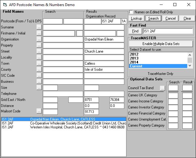 Captura de pantalla de TraceMaster