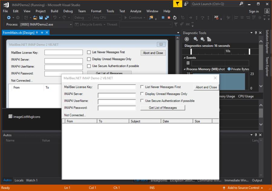 Screenshot of MailBee.NET IMAP