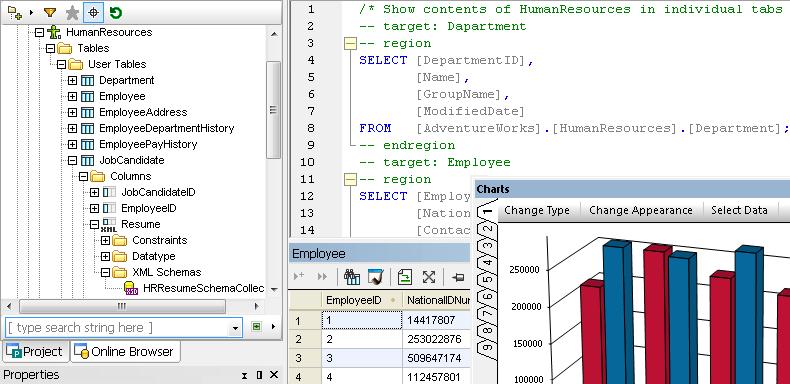 Screenshot of Altova DataBaseSpy Enterprise Edition
