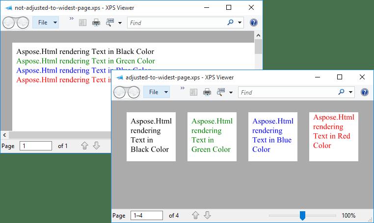 Screenshot of Aspose.Html for .NET