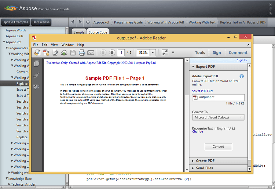Screenshot of Aspose.Pdf for Java