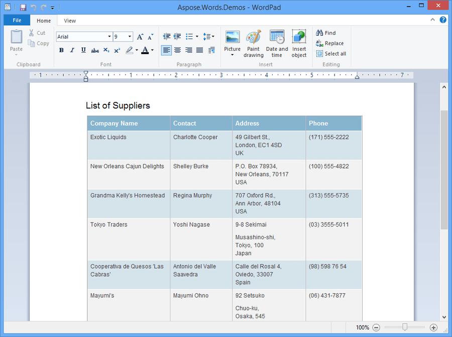 Aspose.Total for .NET のスクリーンショット