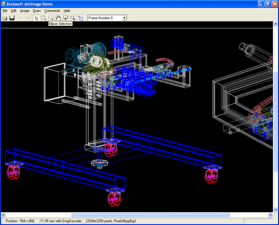 Screenshot von AtalaSoft DotImage CAD Reader Add-On