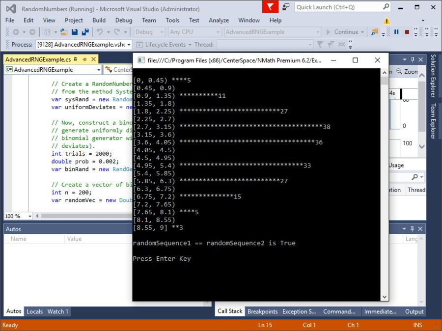 Screenshot of NMath Suite