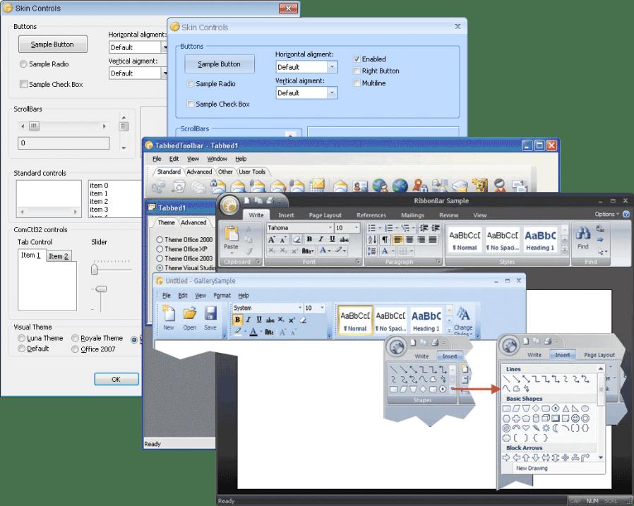 Screenshot of Codejock Skin Framework Bundle ActiveX