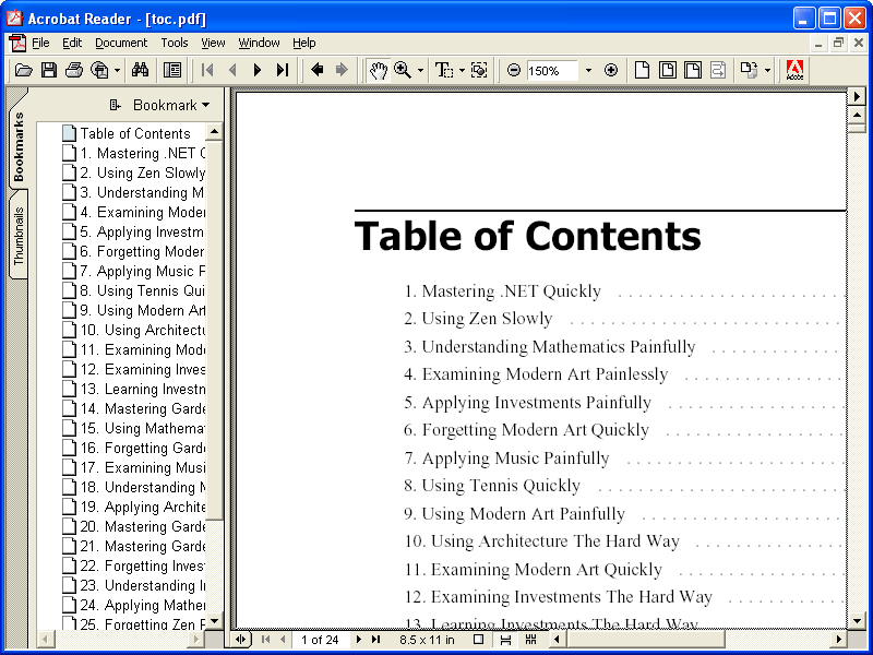Screenshot of ComponentOne PDF for WinForms