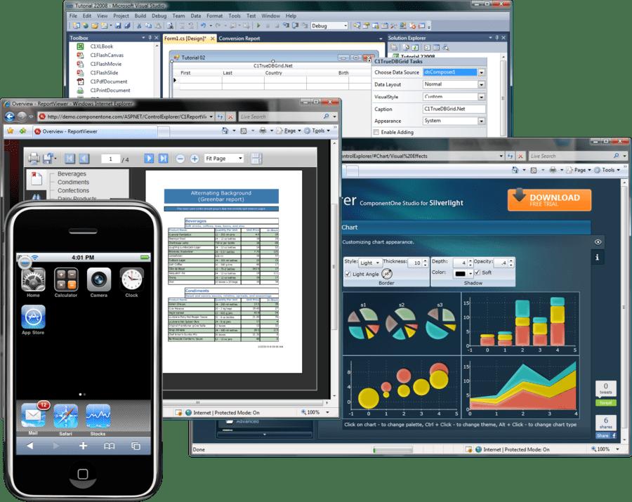 Screenshot of ComponentOne Studio Enterprise Doc Edition