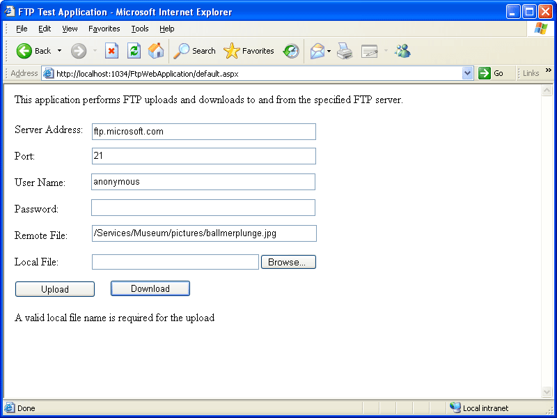 Screenshot of ComponentSpace SAML v2.0 Component