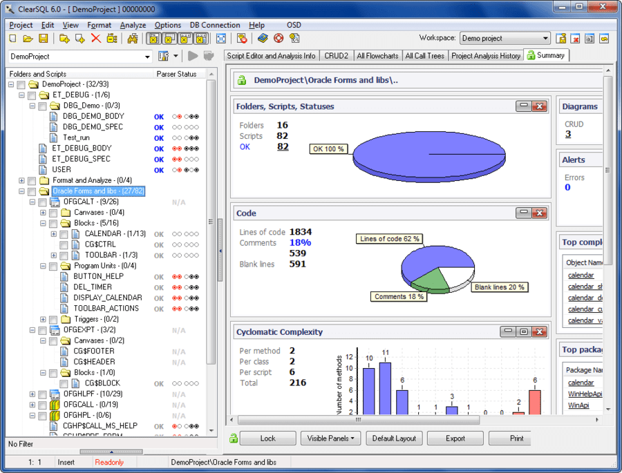 Screenshot of ClearSQL