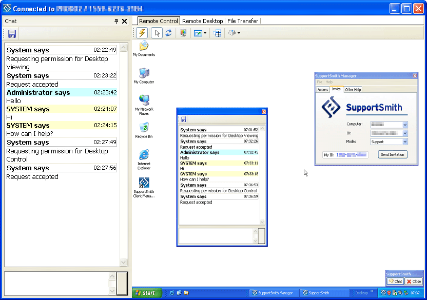 Screenshot of SupportSmith SDK
