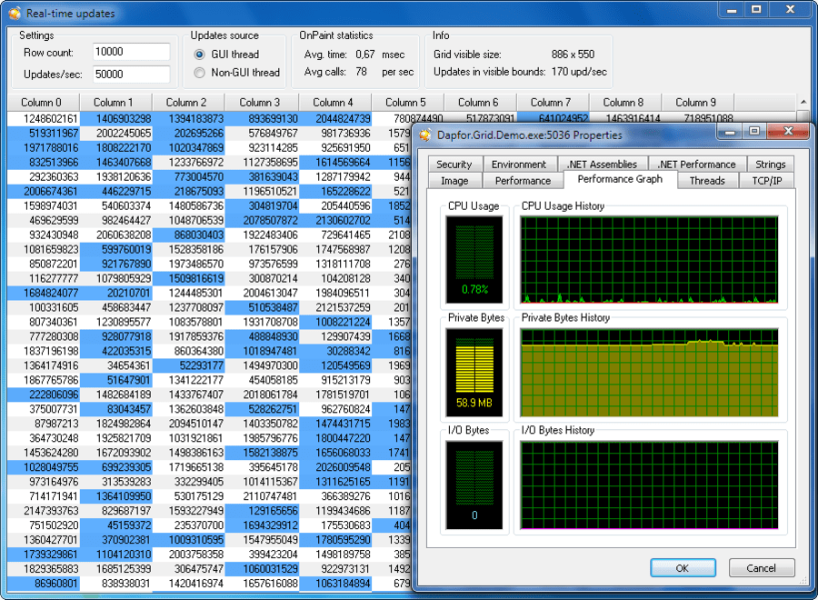 Screenshot of Dapfor .Net Grid