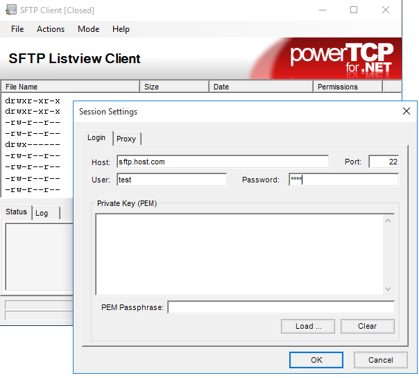 Screenshot of PowerTCP SSH and SFTP for .NET