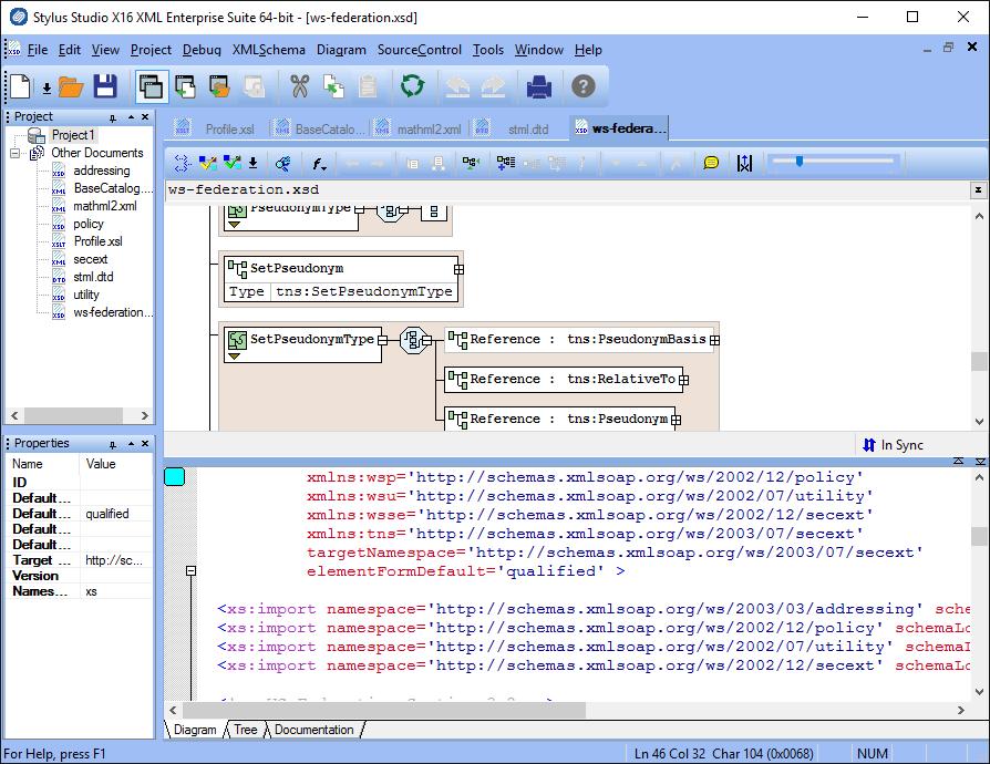 Screenshot of Stylus Studio XML Enterprise Suite