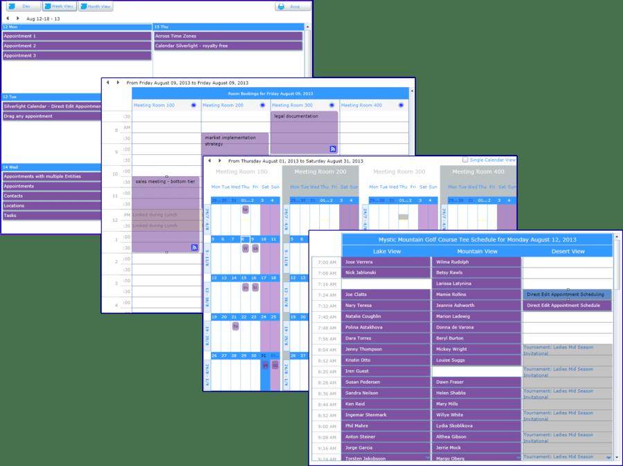 Screenshot of dbi Calendar Silverlight