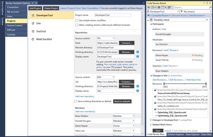Screenshot of Code Review Bundle