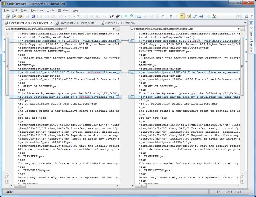 Screenshot of Code Compare Pro